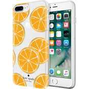 Estuche rígido flexible para iPhone 7 Plus - Naranja