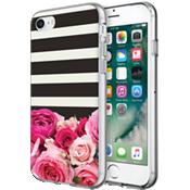 Estuche rígido flexible para iPhone 7 - Rayas rosas