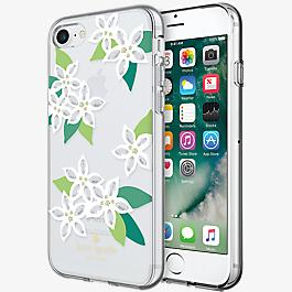 Estuche rígido flexible para iPhone 7 - Blanco floral