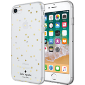 Carcasa dura flexible para el iPhone 8/7 - Color Scatter Dot Gold with Gems
