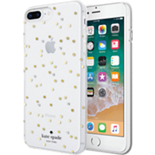 Carcasa dura flexible para el iPhone 8 Plus/7 Plus - Color Scatter Dot Gold with Gems