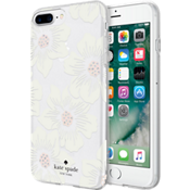 Estuche rígido flexible para iPhone 8 Plus/7 Plus/6s Plus/6 Plus - Color Hollyhock Floral