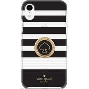 Juego de regalo: anillo y carcasa dura para el iPhone XR - Negro/Blanco/Gold Foil