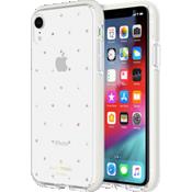 Carcasa dura para el iPhone XR - Gemas/perlas pequeñas/Trasparente