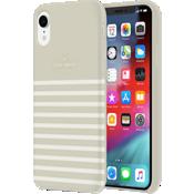 Carcasa dura para el iPhone XR - Clocktower/Crema/Logotipo dorado