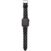 Pulsera de cuero de becerro de 38mm para Apple Watch Series 3,2,1 - Negro