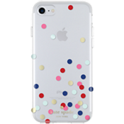 Estuche rígido flexible para iPhone 7 - Confetti Dot Clear