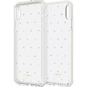 Carcasa dura para el iPhone XS Max - Gemas/perlas pequeñas/Trasparente