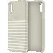 Carcasa suave dura para el iPhone XS Max - Clocktower/Crema/Logotipo dorado