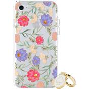 Juego de regalo: anillo y carcasa protectora dura para el iPhone 8/7/6s/6 - Color Blossom Multi