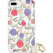 Juego de regalo: anillo y carcasa protectora dura para el iPhone 8 Plus/7 Plus/6s Plus/6 Plus - Color Blossom Multi