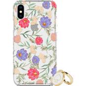 Juego de regalo: anillo y carcasa protectora dura para el iPhone X - Color Blossom Multi