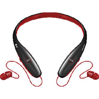 Audífono estéreo Bluetooth LG Tone Infinim - Rojo