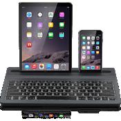 Teclado inalámbrico retroiluminado Limitless para múltiples dispositivos - Negro