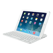 Cubierta ultrafina con teclado de Logitech para iPad Air - Blanco