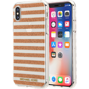 Estuche a rayas para el iPhone X - Color Rose Gold