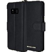 Carcasa de teléfono Saffiano Folio para Galaxy S8 - Negro