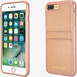 Estuche con bolsillo de piel Saffiano para iPhone 8 Plus/7 Plus