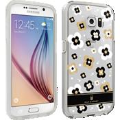 Cubierta Milk & Honey para el Samsung Galaxy S6 - Transparente con flores doradas