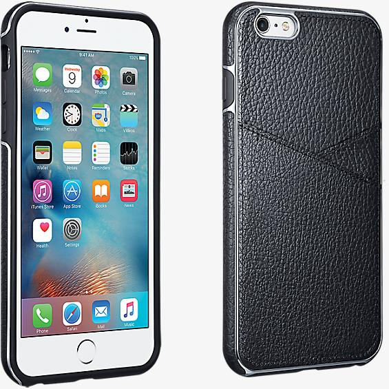 Estuche tipo billetera de piel para iPhone 6 Plus/6s Plus - Negro