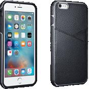 Estuche tipo billetera de piel para iPhone 6 Plus/6s Plus - Negro