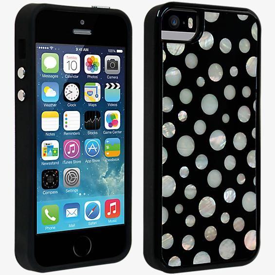 Estuche con diseño a lunares para iPhone 5/5s