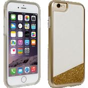 Cubierta Glitter Milk and Honey para iPhone 6/6s, blanco y dorado