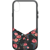 Carcasa Suit Up Print para iPhone X - Floral negro