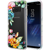 Estuche transparente con flores para Galaxy S8 - Transparente
