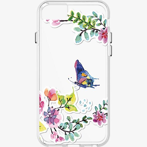 Estuche transparente con diseño de mariposas para iPhone 7