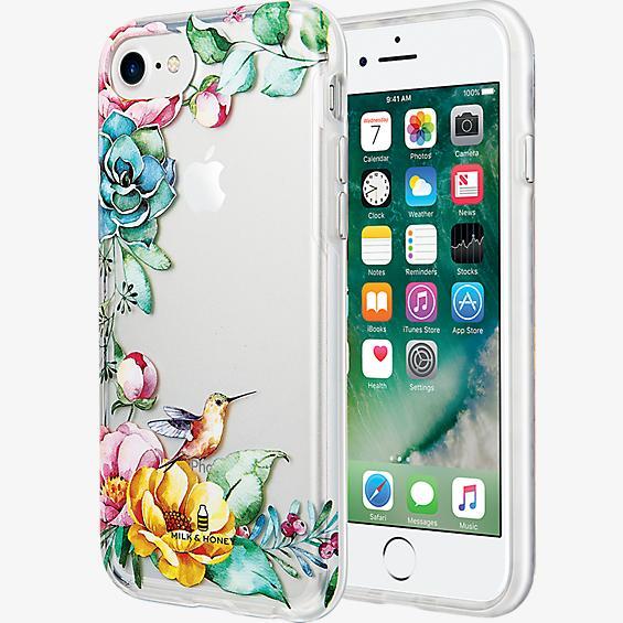 Estuche transparente con flores para iPhone 7/6s/6