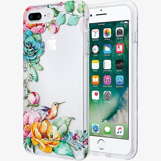 Estuche transparente con flores para iPhone 7 Plus/6s Plus/6 Plus