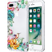 Estuche transparente con flores para iPhone 7 Plus/6s Plus/6 Plus - Transparente