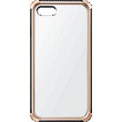 Estuche transparente con protector dorado para iPhone 7