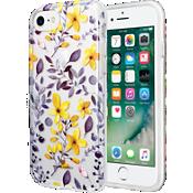 Estuche transparente con flores para iPhone 7/6s/6 - Púrpura/Amarillo