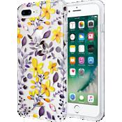 Estuche transparente con flores para iPhone 7 Plus/6s Plus/6 Plus - Púrpura/Amarillo