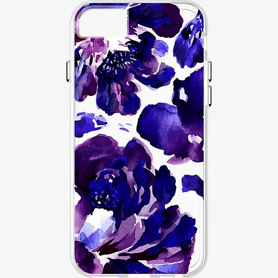 Estuche transparente con flores púrpura para iPhone 7/6s/6