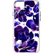Estuche transparente con flores púrpura para iPhone 6/6s/7