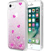 Estuche con líquido Valentine's Day Hearts para iPhone 7/6s/6