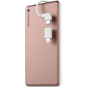 powerstation plus mini 4000 con cable con punta intercambiable - Color Rose Gold