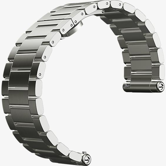 Banda para reloj Moto 360 2da gen. para hombre, 46 mm - Metal plateado