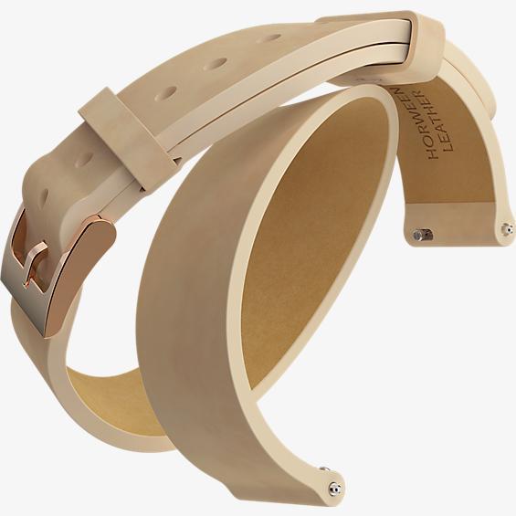 Pulsera para reloj Moto 360 2da gen. para mujer - Correa doble de piel rosada