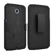 Paquete combinado de cubierta/protector con pie de apoyo para Nexus 6