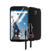 Paquete de cubierta de silicona para Nexus 6 - Negro
