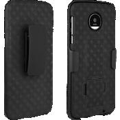 Paquete combinado de protector/cubierta para Moto Z Droid - Negro