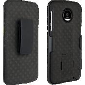 Paquete combinado de protector/cubierta para Moto Z Force Droid - Negro