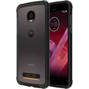 Protector en dos tonos para Moto Z2 Play - Negro/Color Dark Gray