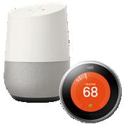 Paquete de Google Home y termostato Nest