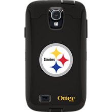 NFL Defender de OtterBox para Samsung Galaxy S4 - Pittsburgh Steelers