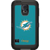 NFL Defender de OtterBox para Samsung Galaxy S5 - Miami Dolphins